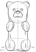 how to draw a gummy bear drawing tutorial
