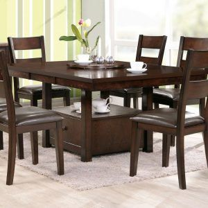 Square Dining Room Table For 8  Homedining Room  Pinterest Amazing Square Dining Room Table Review