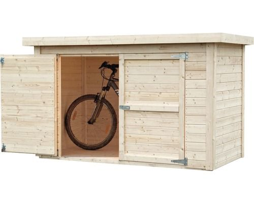 Fußboden Im Schuppen ~ Fahrradgarage wandschrank velo mit fußboden 206x102 cm natur
