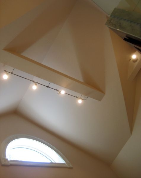 cathedral ceiling track lighting classic track the cathedral ceiling posed the biggest challenge we incorporated very modern track lighting system with adjustable lights again showing attention to