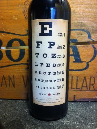 Eye Chart Wine