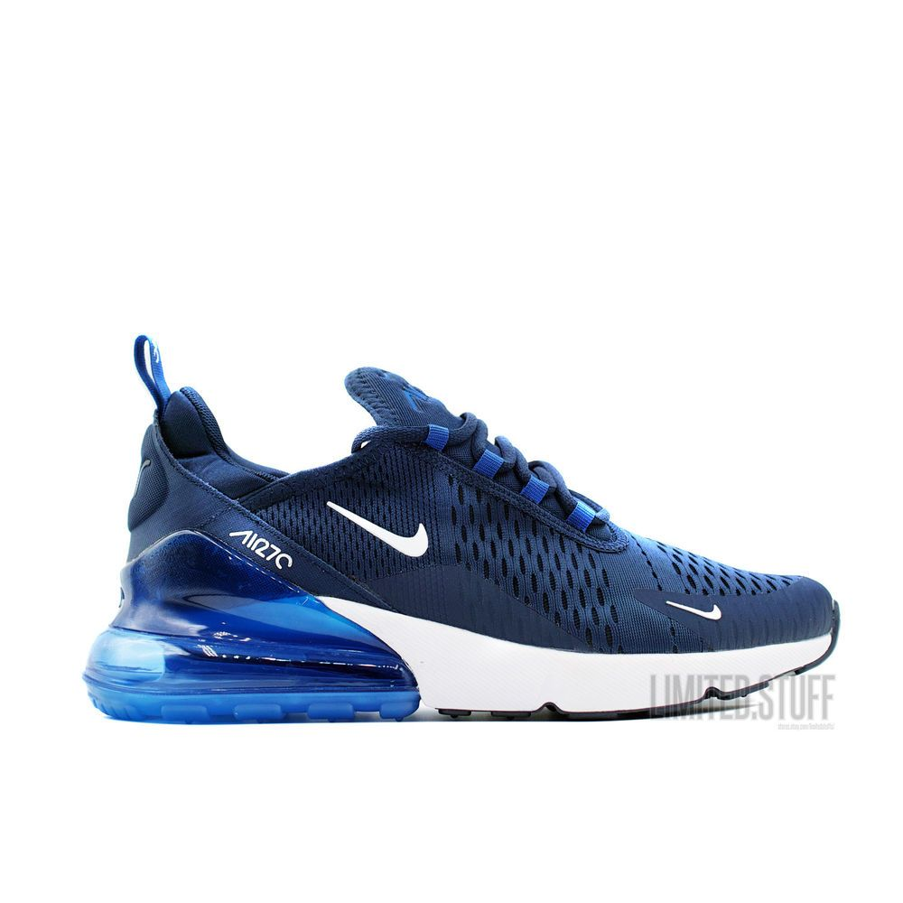 separation shoes df3ff b2324 Nike Air Max 270 model 2018 - Navy Blue White - Size 9.5 US 43 EU  Nike   RunningCrossTraining