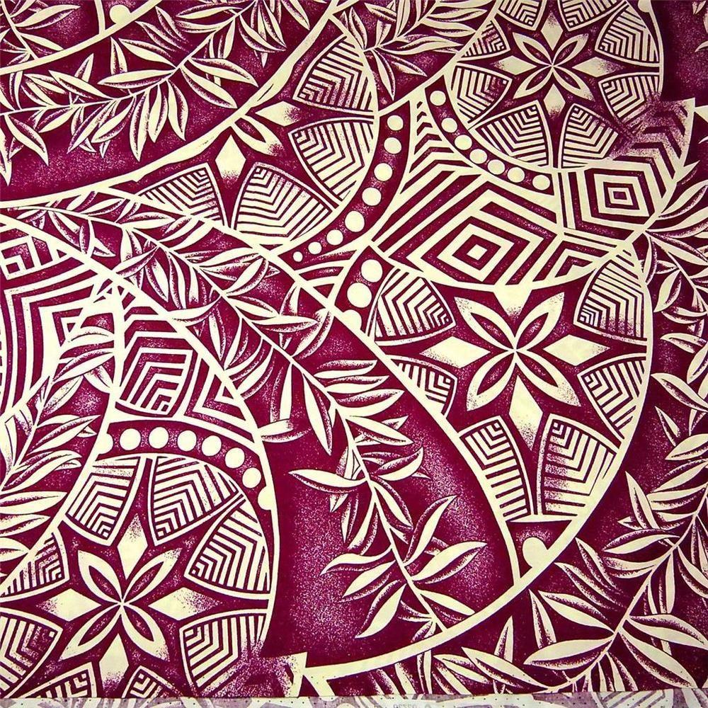 Hawaiian Print, Pacific Island Tribal & Tropical Leaves ...