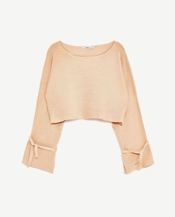 Image 8 of CROPPED SWEATER WITH RIBBON DETAILS from Zara | F/W ...