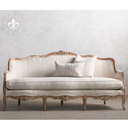 Stunning Vintage Daybed in Lovely Patina and Classic Louis XV Style - Daybed Images