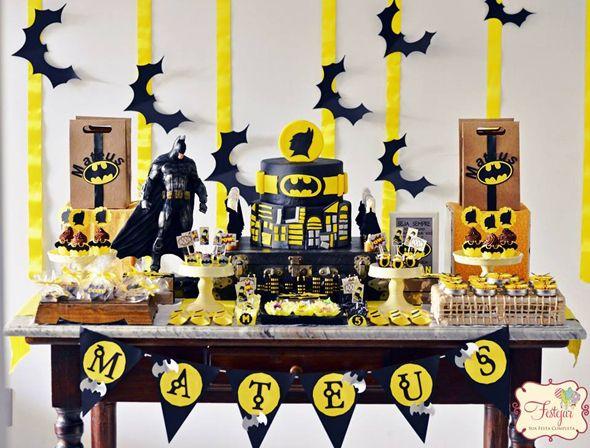 Batman Themed Birthday Party | Themed birthday parties, Batman and ...