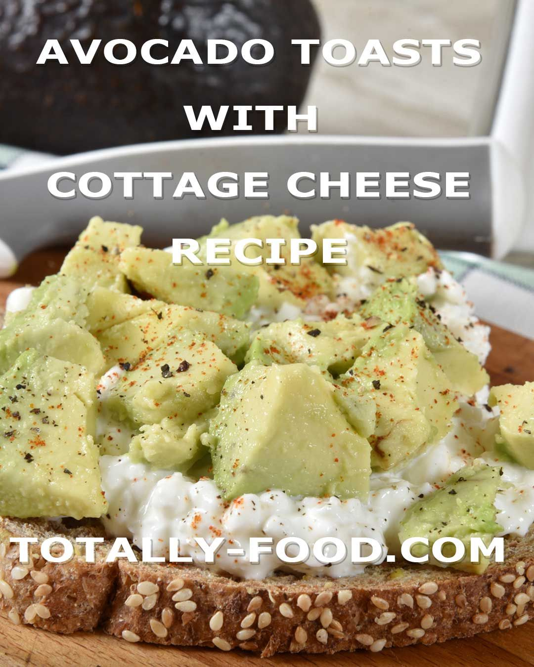 Avocado Cottage Cheese Toasts Totally Food Recipe Cottage Cheese Recipes Stuffed Avocado Healthy Recipes