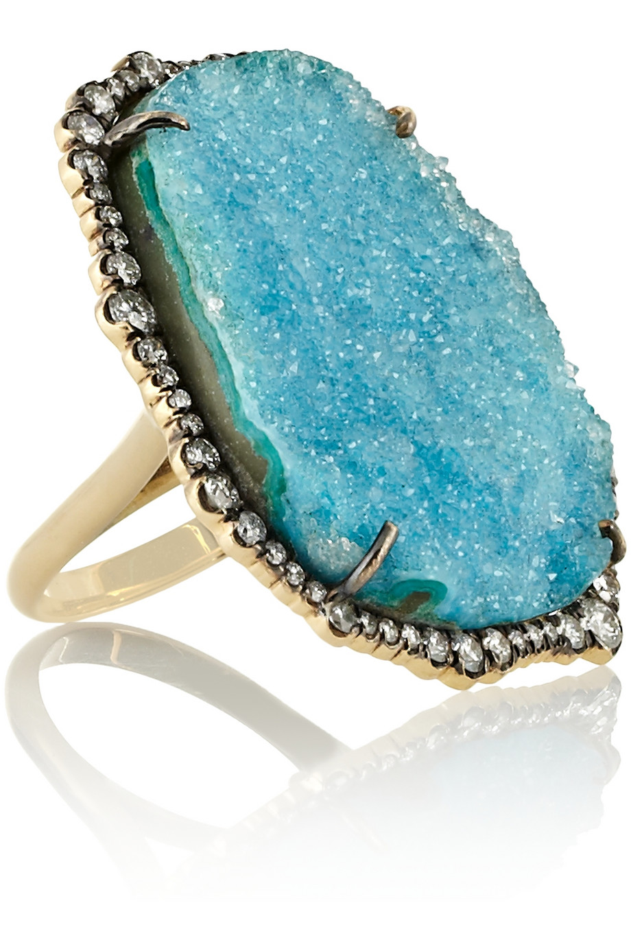 Kimberly McDonald 18-karat White Gold, Opal And Diamond Ring - Turquoise