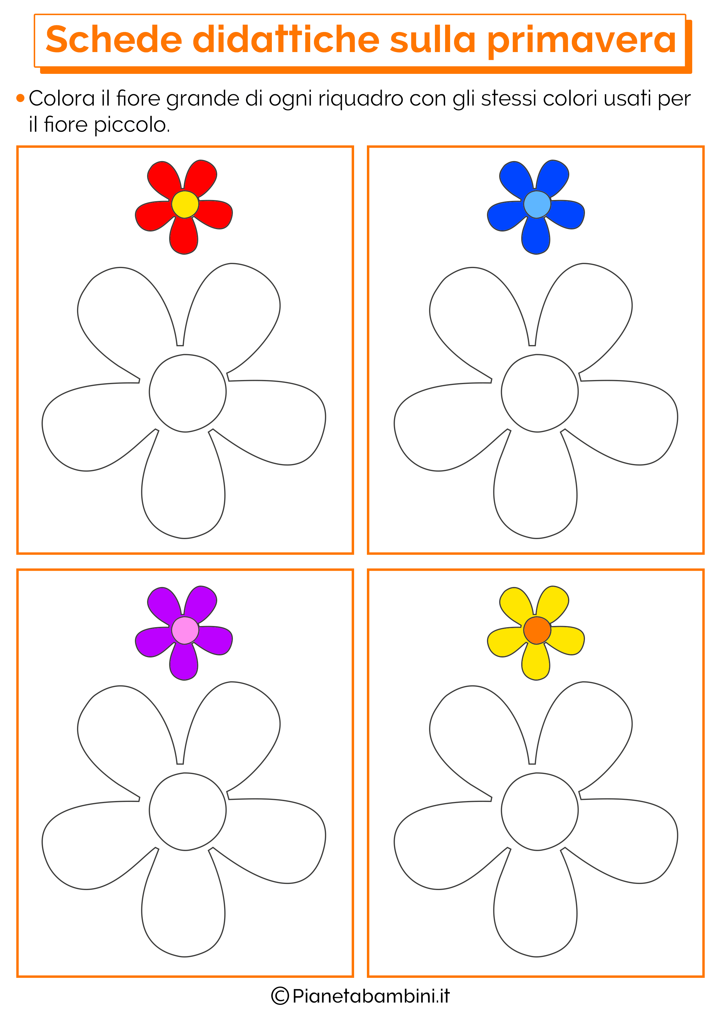 Amato Risultati immagini per schede didattiche primavera scuola infanzia  VU46