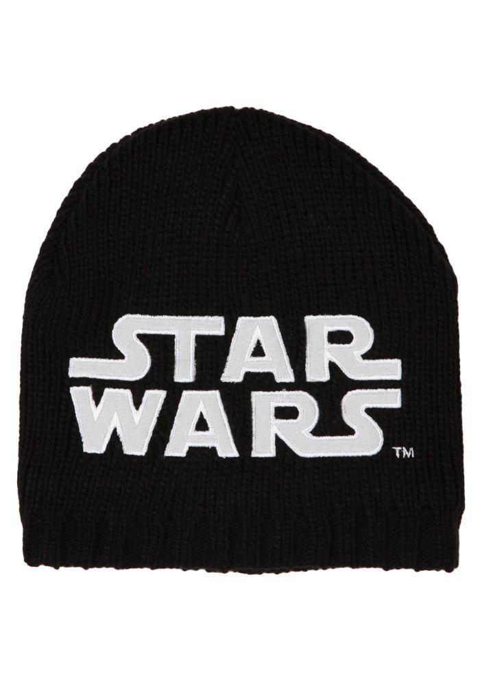 1fe73a4c6 STAR WARS Glow In The Dark Logo Exclusive Black Knit Beanie ...
