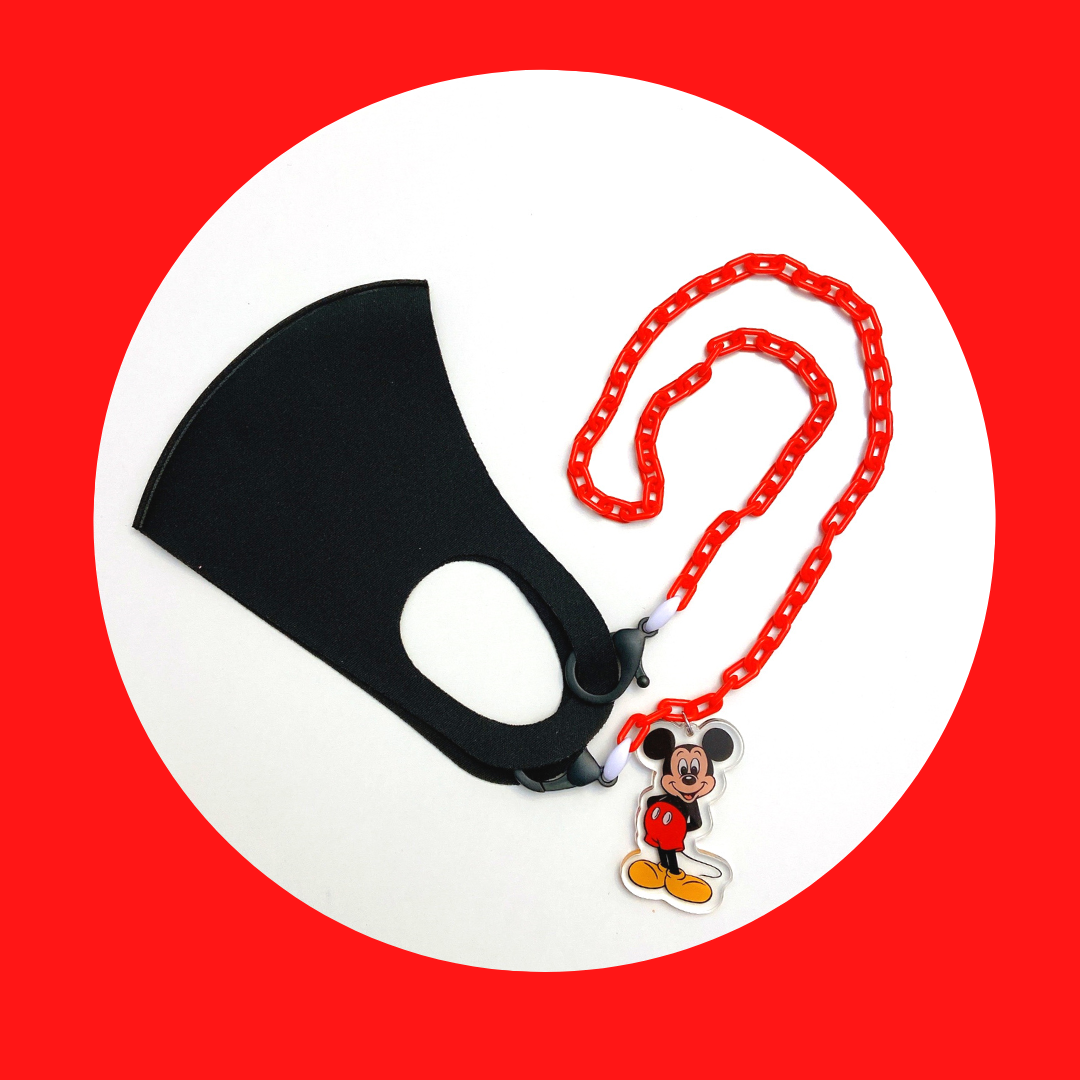 Colorful Mickey Mouse Inspired Mask ChainLanyard