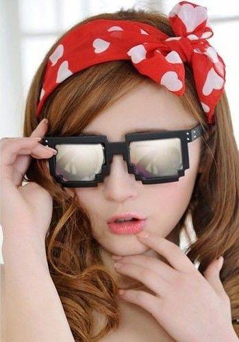 7d8a2283f9 Gafas 8 Bits pixeladas - Minecraft - espejo | Gafas de sol | Gafas ...