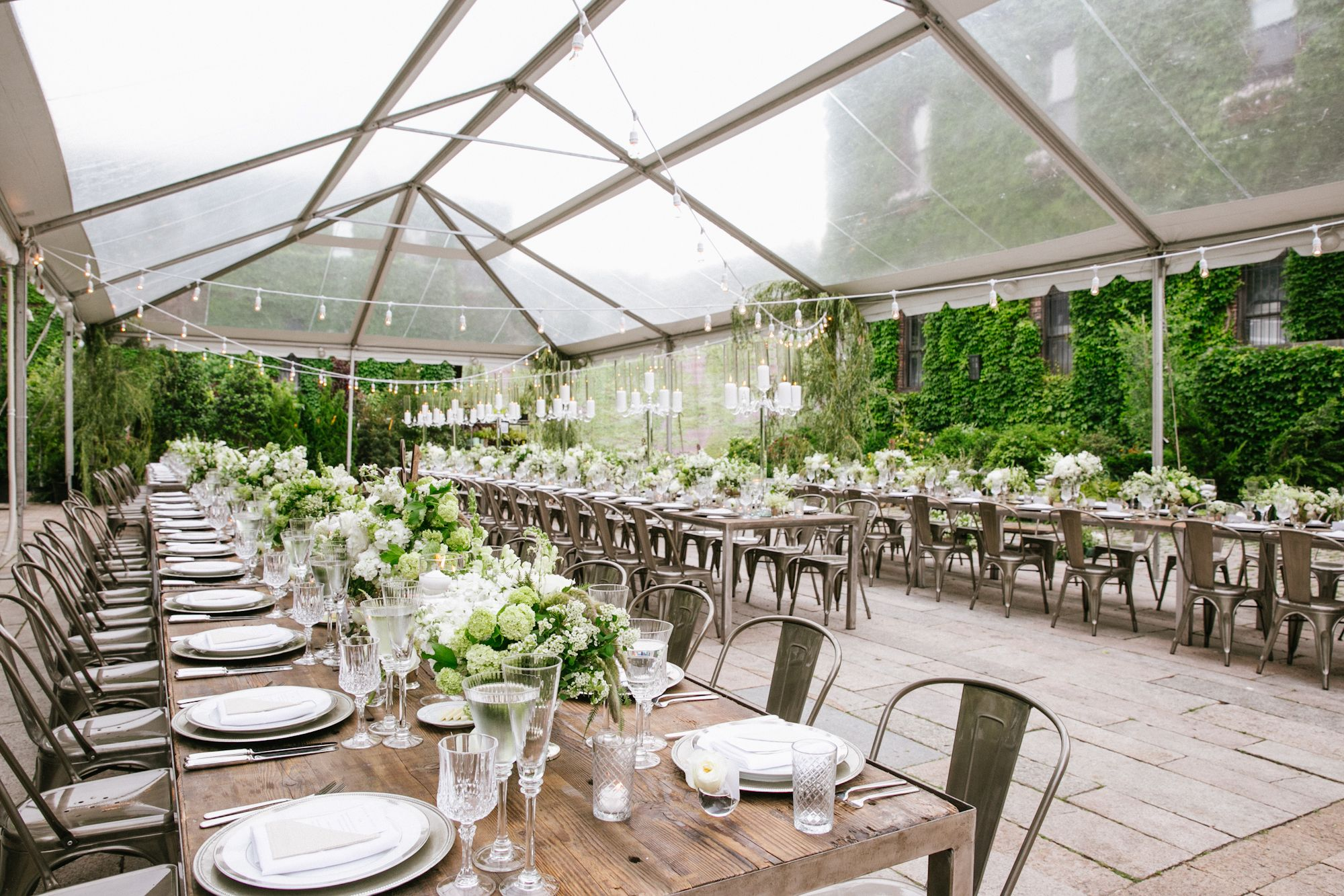Lush, Tented Wedding Reception at The Foundry NYC Long