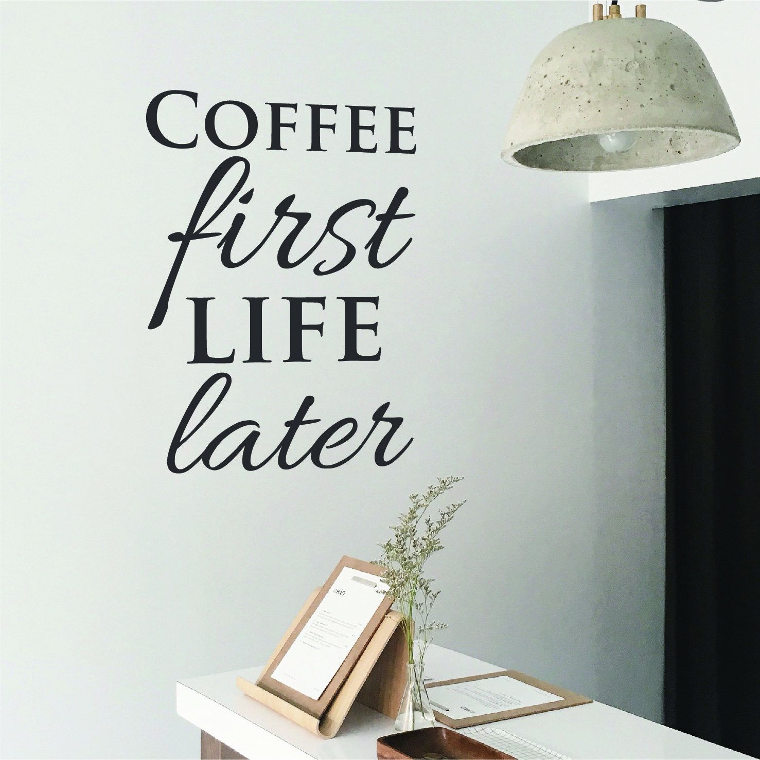 Coffee decor wall decal coffee wall art sticker quote cafe decor