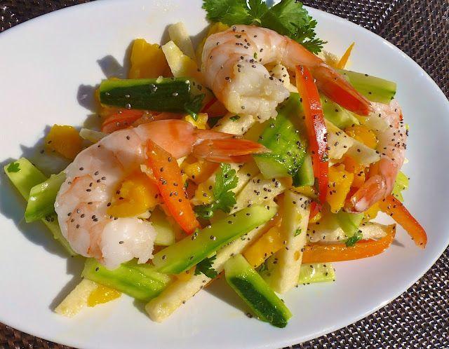 The Café Sucré Farine: Colossal Shrimp, Mango & Cucumber Salad