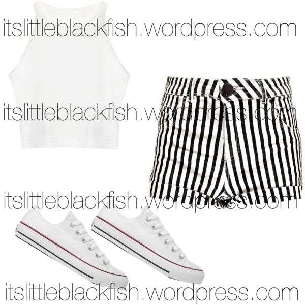 #OOTW 6 by srtalopez on Polyvore featuring polyvore fashion style Boohoo Converse