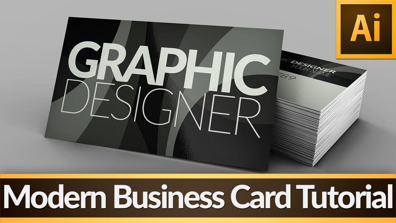 Modern Business Card Illustrator Tutorial