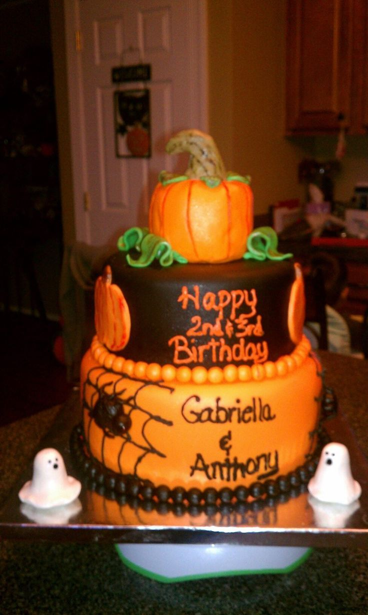 Kids Halloween Birthday Cake Michelles Bday Ideas Pinterest