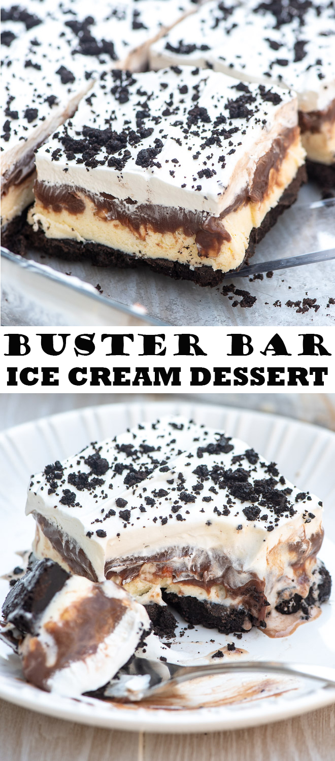 Buster Bar Ice Cream Dessert | Valerie's Kitchen