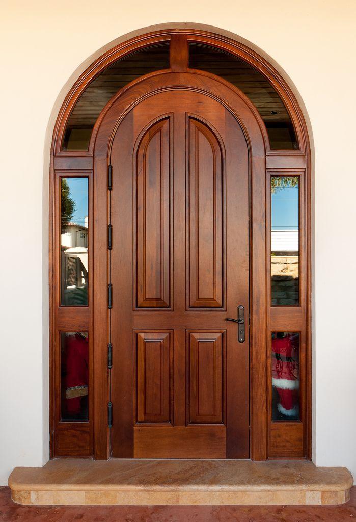 Borano Marbella Solid Mahogany Single Door With Insulated Laminated Gl Wrap Around