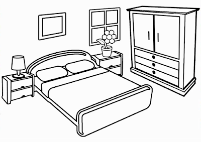 Living Room Coloring Pages House Drawing For Kids House Colouring Pages Interior Decoration Bedroom