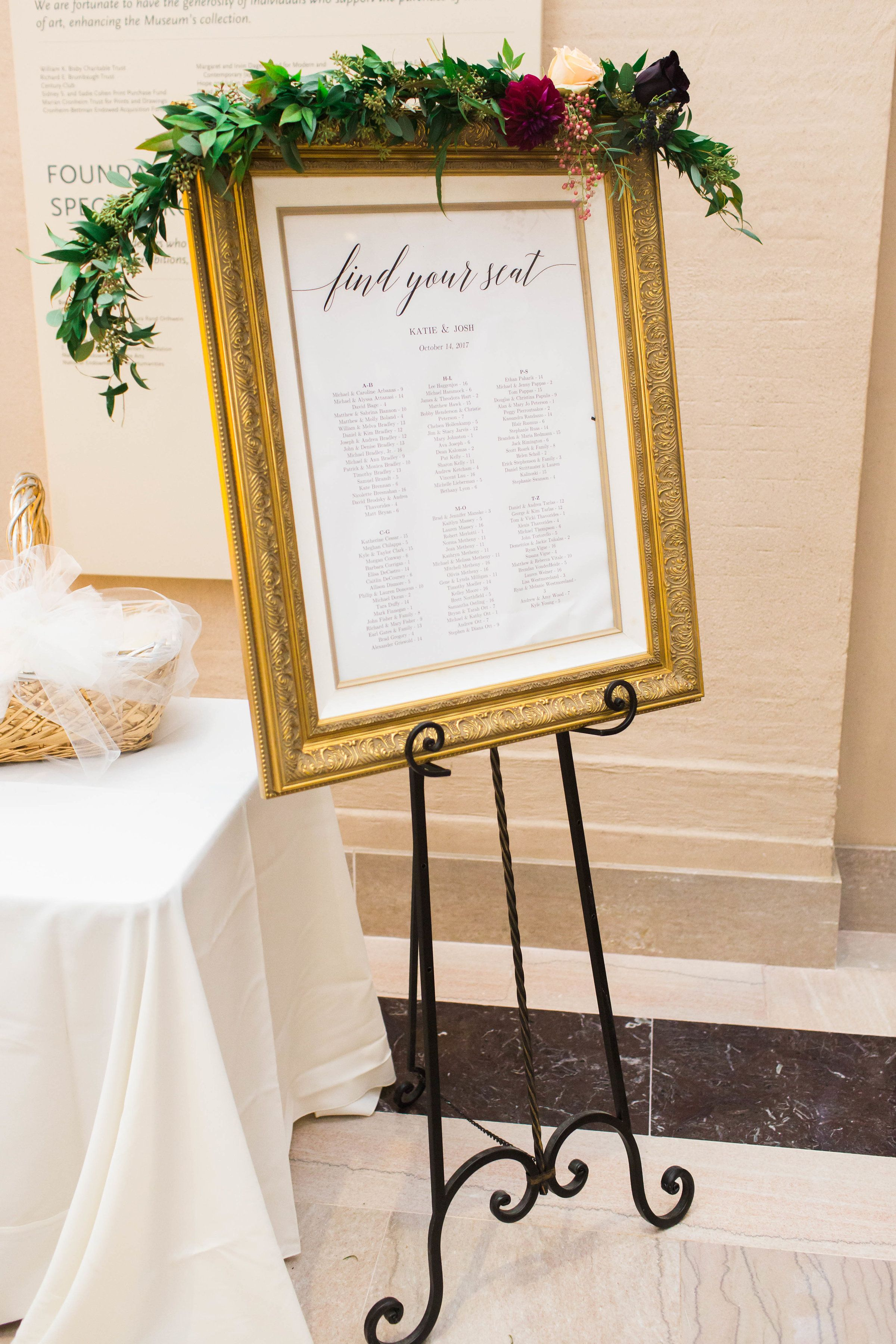 Guest Seating Assignments At The Stlouisartmuseum Eventsbypanorama Lauraannmillerphotography
