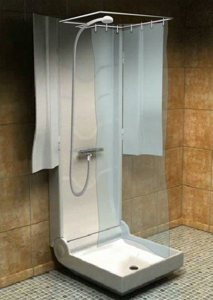 folding shower2 425x600 The Many Options for Showers in Tiny Houses