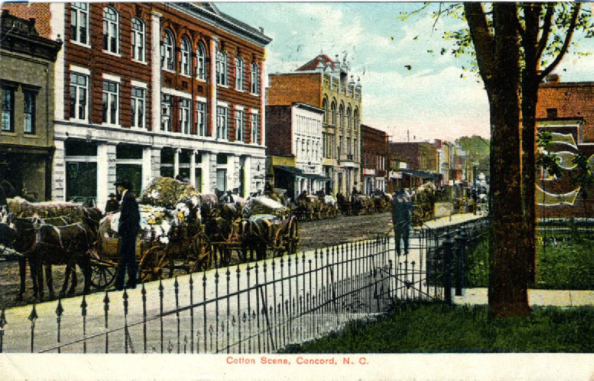 Cotton Scene -- Concord, NC 1908   Favorite places, North