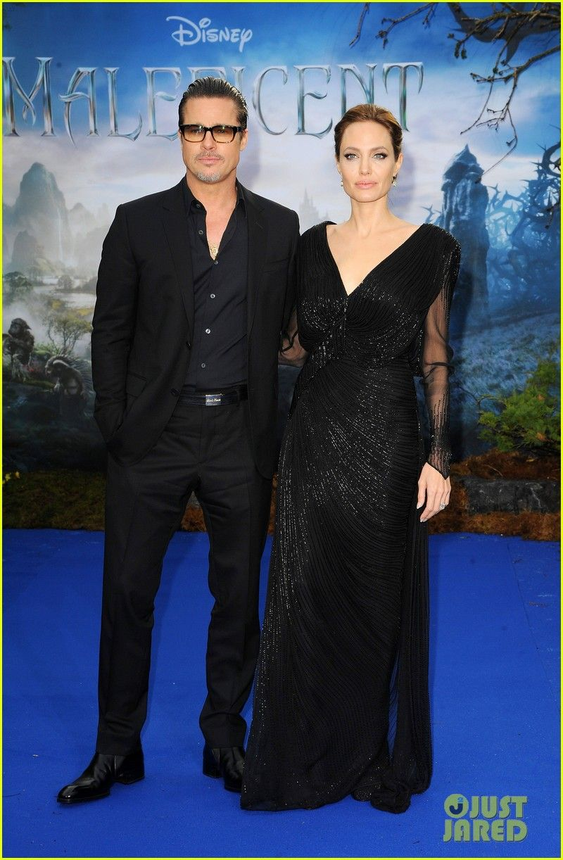 Brad Pitt Holds Angelina Jolie Close at 'Maleficent' Private Reception Gala! | brad pitt angelina jolie maleficent london 05 - Photo