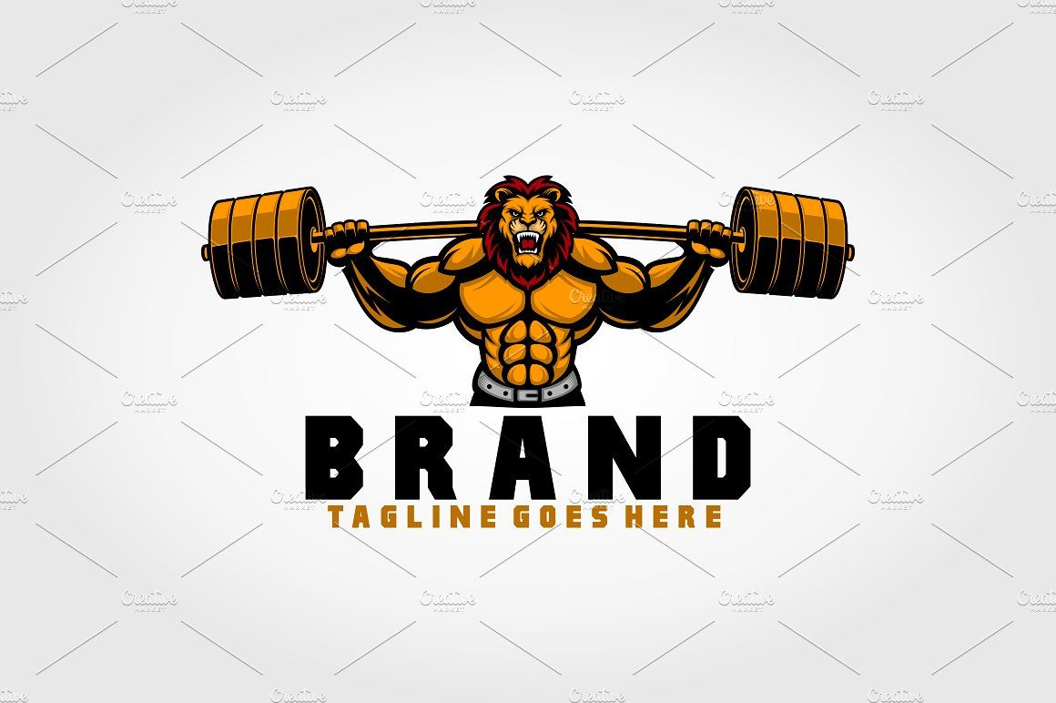 Lion Fitness Logo Fitness Logo Logo Templates Lion