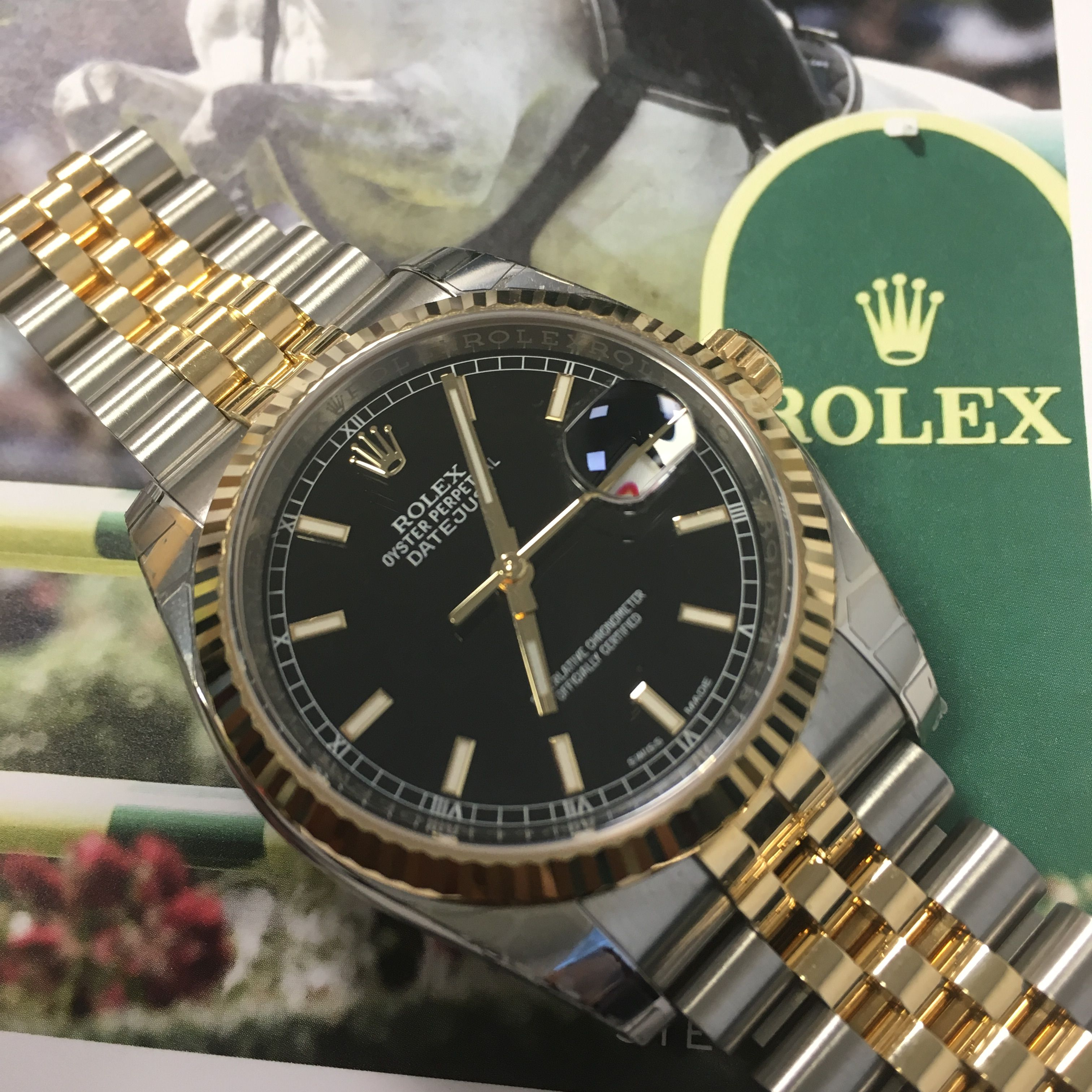 Got To Love A Datejust Classic Rolex Datejust Steel Gold Black Baton Dial Now In Stock Rolex Rolex Datejust Datejust