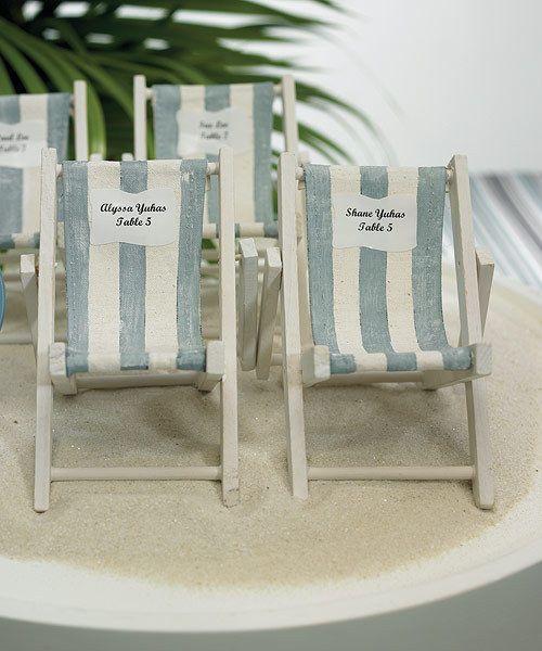 40 Pc Miniature Folding Beach Chairs Destination Wedding Beach
