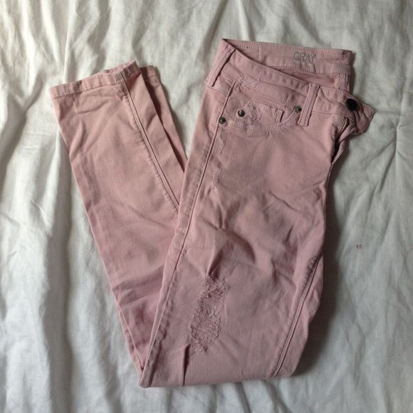 Pink Distressed Jeans Saks 5th Grey Label Super Comfy Skinny In Light From Fifth Avenue Worn Three Times And Are Great Condition