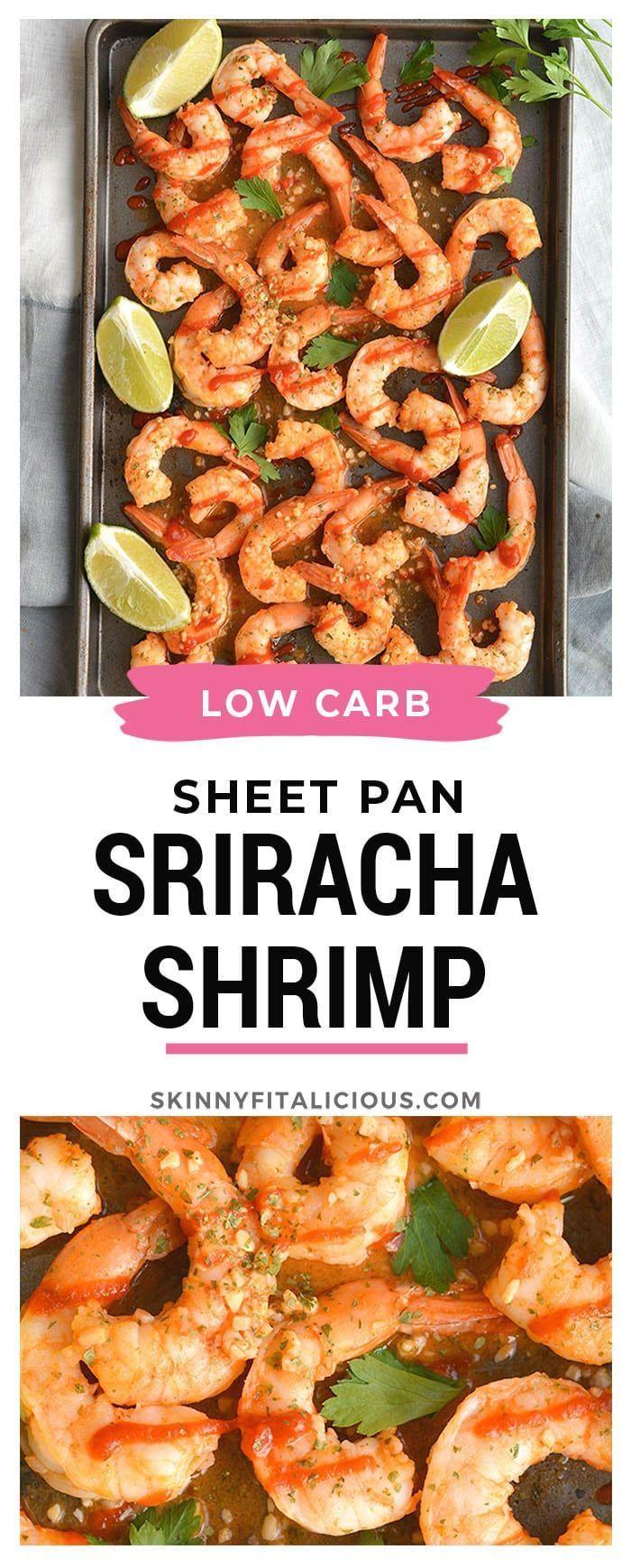 Spicy Sriracha Shrimp hat zwei Möglichkeiten Zarte Garnelen in Knoblauch Limette   Kalorienarme Rezepte