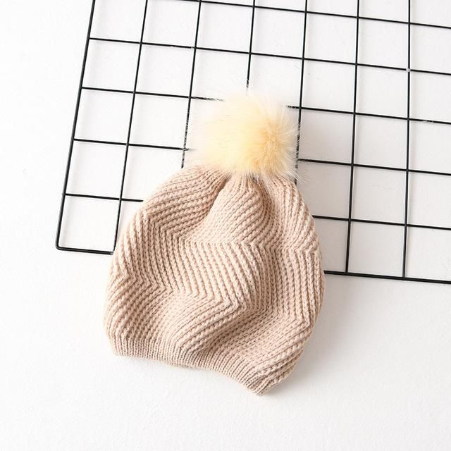 21815c9823a Women Real Fur Pom Pom Hat Female Winter Wool Autumn Knitted Beanies Fur  Ball Cap Ladies Cashmere Natural Women s Fur Pompom Hat