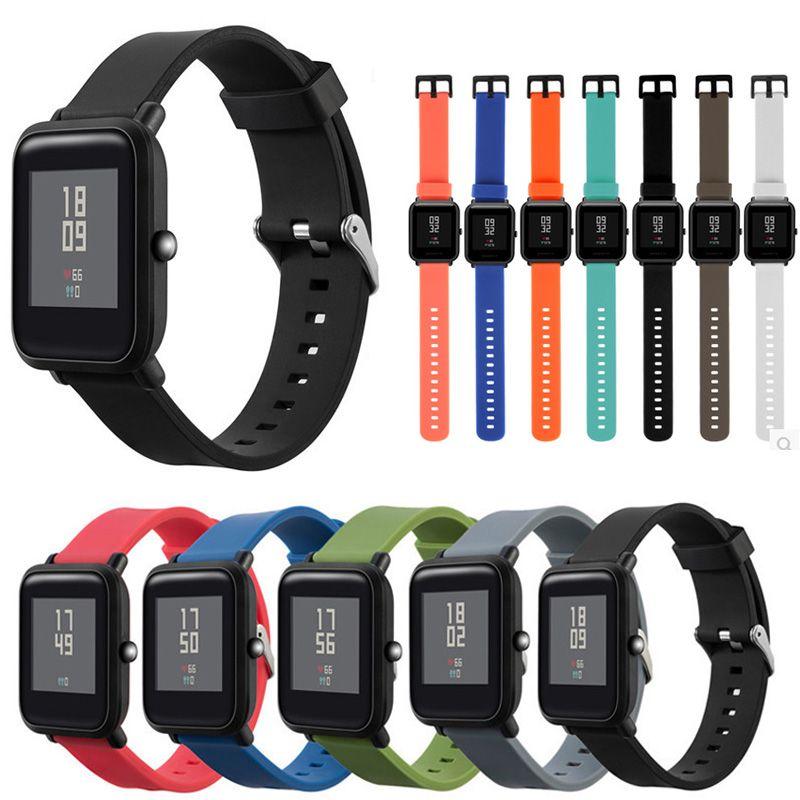 f5196b89942a comprar JANSIN correa de silicona para Xiaomi Huami Amazfit Bip poco ritmo  Lite juventud reloj inteligente