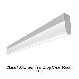 The Tdc100 Tear Drop Clean Room Commercial Led Lighting Fixture Is A Class 100 Iso 5 Equiv Led Commercial Lighting Led Light Fixtures Linear Pendant Lighting