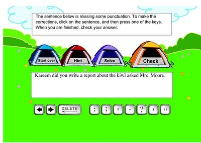 technology rocks. seriously.  This blog is filled with fun games for kids to play, and learn punctuation at the same time!
