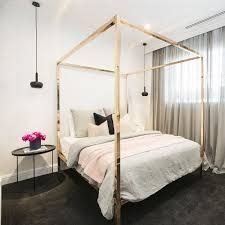 Rose Gold Four Poster Bed