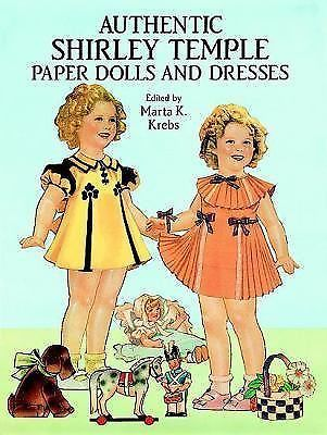 Shirley Temple Paper Dolls & Dress book new uncut 2 dolls lots of clothes
