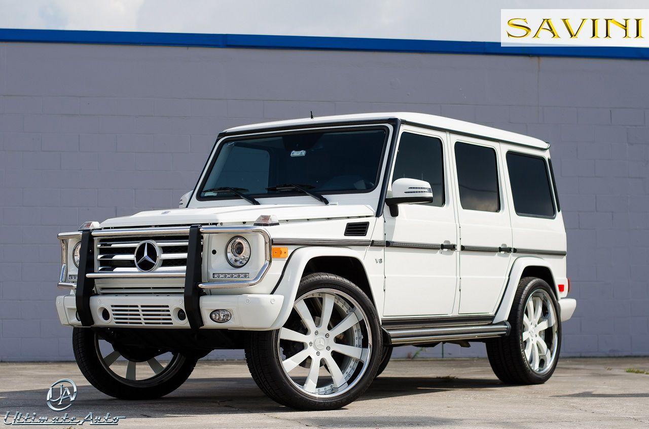 White mercedes benz g wagon savini forged wheels sv28 s for White rims for mercedes benz