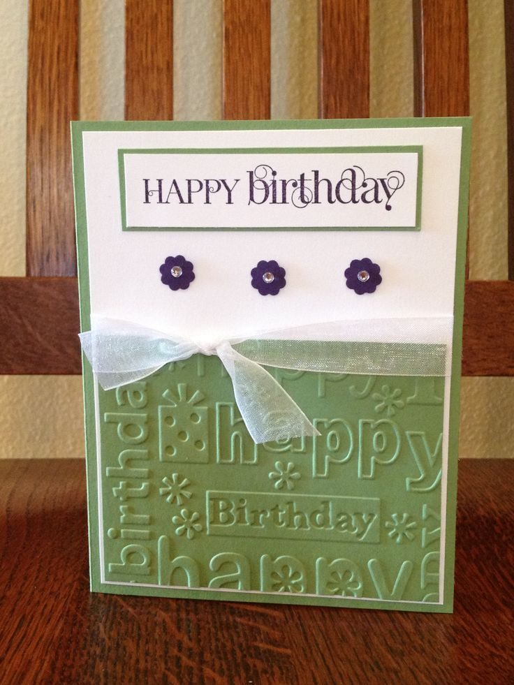 so cas  embossed cards happy birthday cards card