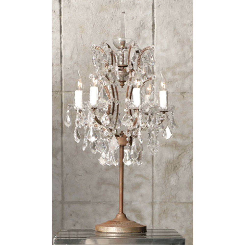 Rococo Style Chandelier Table Lamp Chandelier Table Lamp