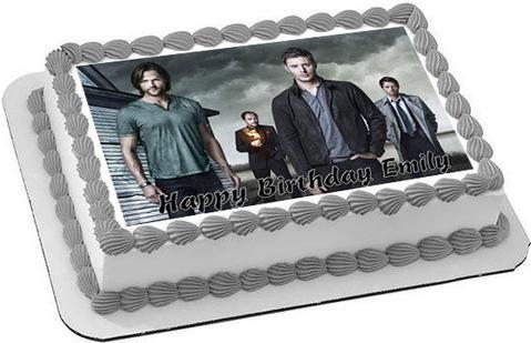 Supernatural Edible Birthday Cake Topper OR Cupcake Topper ...