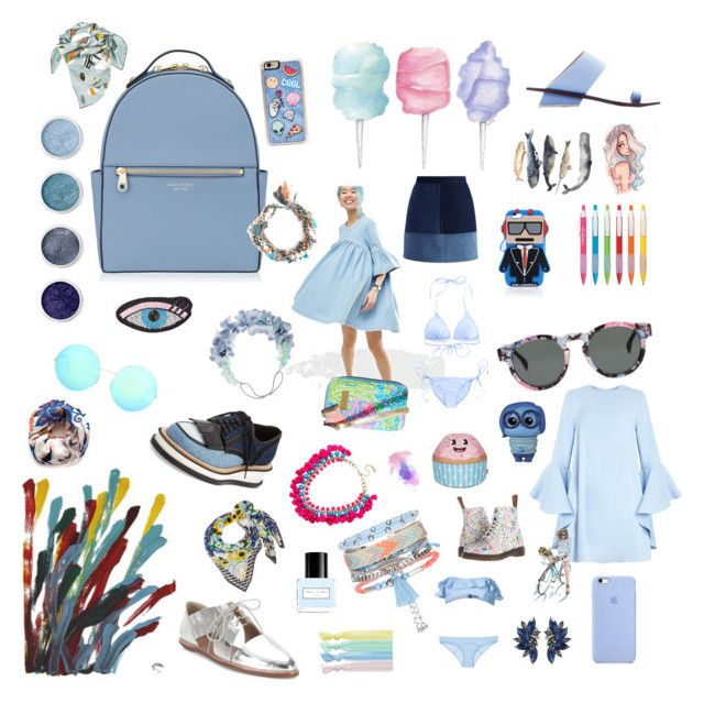 """...Because I love the color blue"" by sari770 ❤ liked on Polyvore featuring Henri Bendel, Cotton Candy, ASOS, NOVICA, Komono, Givenchy, Topshop, Loeffler Randall, Terre Mère and Victoria Beckham"