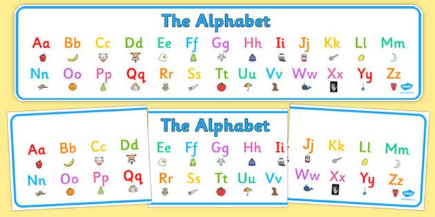 Lovely Alphabet Display Banner with a different illustration for each letter!