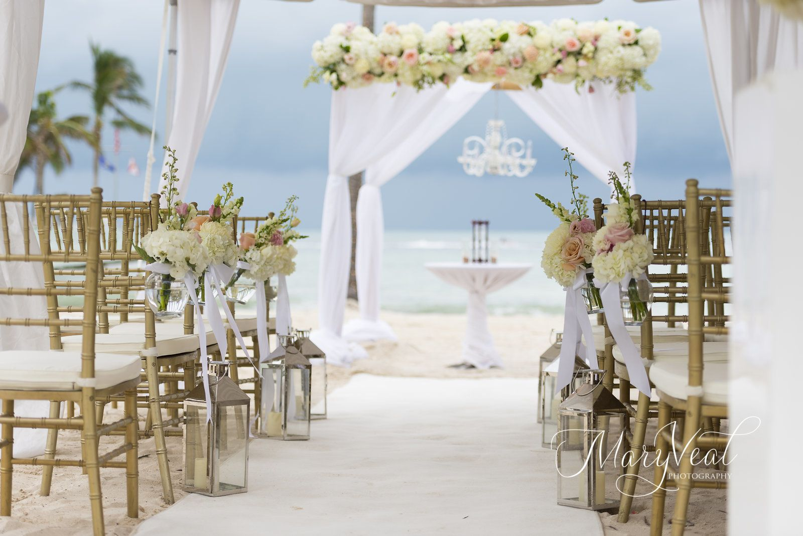 Beautiful ceremony decor at southernmost beach resort