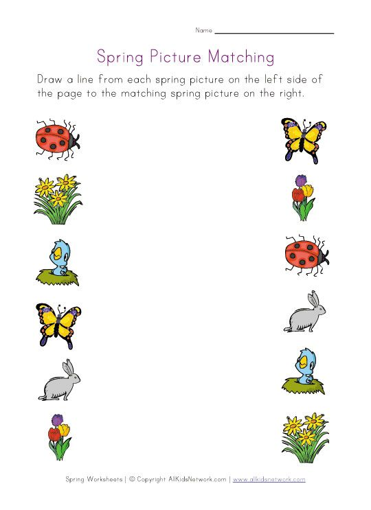 Preschool Worksheets Matching Similars : This is a website that has loads of project ideas and some