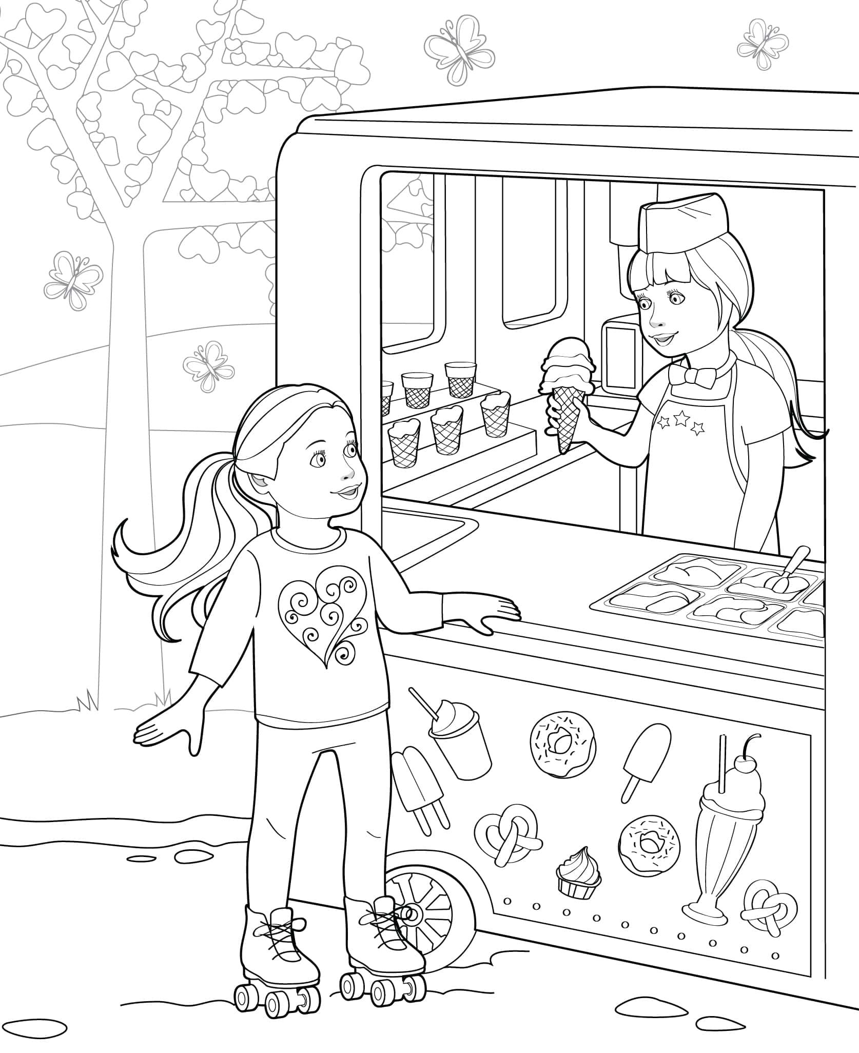 Doll Coloring Books | Our Generation | American Girl Doll | Coloring ...
