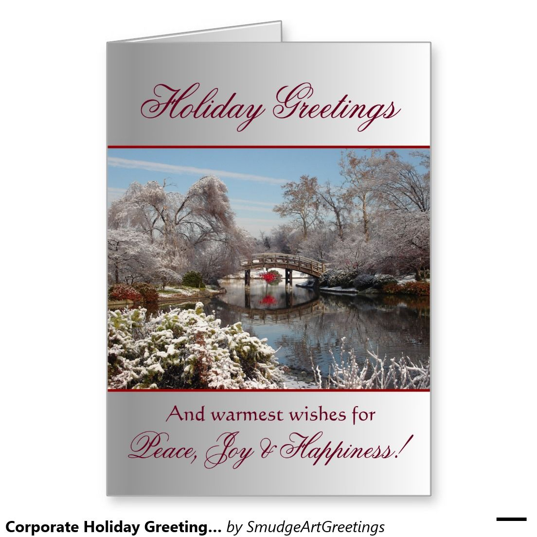 Corporate Holiday Greetings Peacejoyhappiness Business